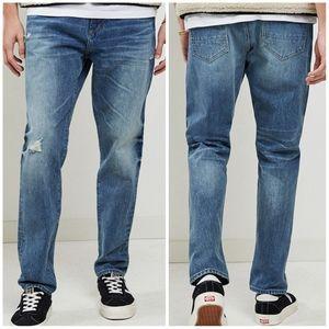 Pacsun Mens Slim Taper Blue Jeans 30 × 32
